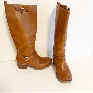 Lucky Brand tall brown leather boots